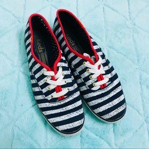 Keds Blue Champion Patriotic Stripes size 7 womens